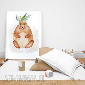 obraz - plakat miś 40 x