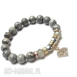 Grey diamond /05-09-18/ , jaspis, cyrkonie, kryształki