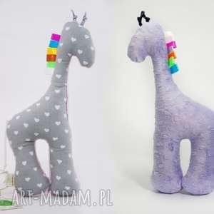 lilifranko żyrafka serduszka / fiolet, przytulanka, niemowlę, maskotka, żyrafa