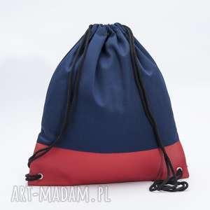 Czerwona ekoskóra, torba, plecak, ekoskóra