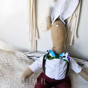maskotki pani królik, przytulaka, szmaciana, prezent, urodziny, chrzciny