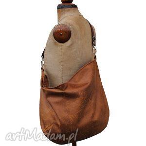 handmade torebki hobo classic (na skos) brown sugar