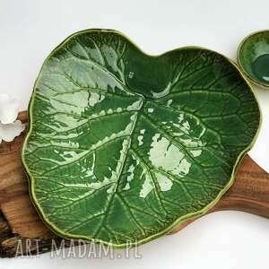 patera ceramiczna - misa dekoracyjna liść, ceramika, patera, misa, liść
