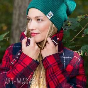 ręcznie robione czapki czapa dwustronna logo kolorowe forest