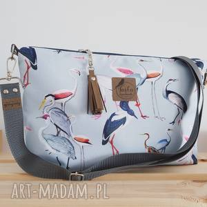 handmade torebki torebka mini plus pocket wodoodporna - czaple & żurawie