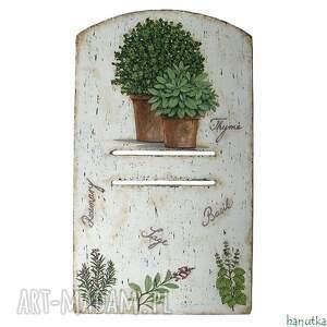hand made wieszaki ziołowa - deseczka pod kalendarz