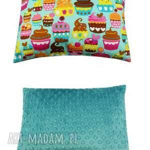 dla dziecka poduszka muffiny, muffinki, minky, poduszka, poducha