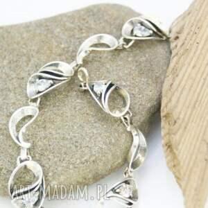bransoletka srebrna z cyrkoniami, bransoletka, srebro, cyrkonie, piękna, błyszcząca