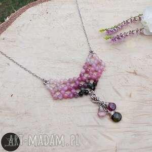 turmalinowe kolory - naszyjnik, srebrny srebrna biżuteria