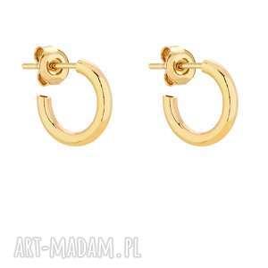 złote półokrągłe kolczyki s sotho - kółeczka
