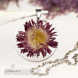 Z1291 naszyjnik z prawdziwym kwiatem -5cm naszyjniki herbarium