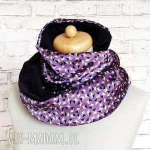 Prezent Komin satynowy :: violet chic ::, komin, szalik, ekskluzywny, prezent