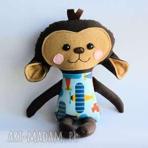 Małpka Grześ - wersja S 35 cm, małpka, wersjas, chłopiec, samolot, dziecko