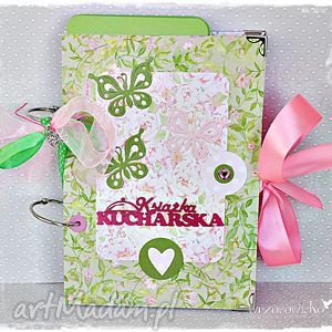 Książka kucharska - motyle w kuchni scrapbooking notesy