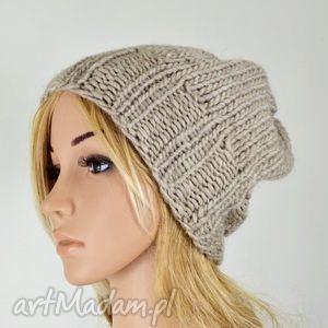 hand-made czapki czapka boho - szeroki ściągacz