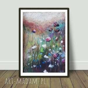 letnia łąka-praca wykonana pastelami suchymi, pastele, łąka