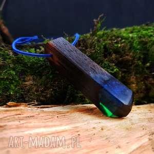 Wisior drewno i żywica Seawood [LUMI Collection], drewno, morze, natura, naszyjnik