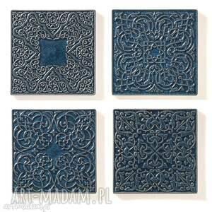 dekory XL szaroniebieskie, dekory, kafle, ornament, dekoracja, kafle-ścienne