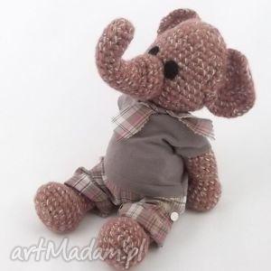 bonifacy - słoń, słonik, szydełkowy, maskotka, zabawka, prezent