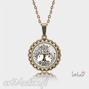 medalion okrągły mały drzewo Życia - krąg, życia, symbol, natura