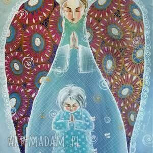 bóg swoim aniołom dał rozkaz o tobie, anioł stróż, prezent, dziecko, mama