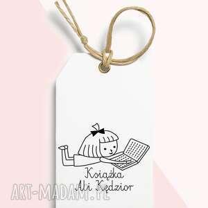 stemple stempel ex libris personalizowany dziewczynka, exlibris