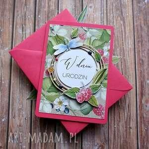 pod choinkę prezenty, kartki malinowo, ślub, urodziny, las, maliny, jagody
