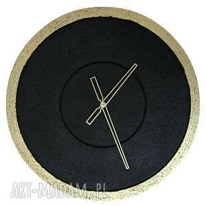 duży zegar betonowy złoty grafit handmade designerski oryginalny nowoczesny