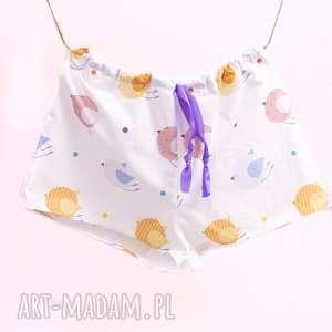 szorty piżama kolorowe ptaszki, piżama, pidżama, szorty, spodenki, prezent