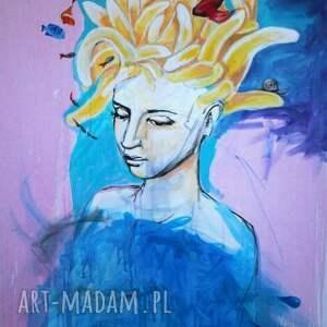 akryl na płótnie tuż obok 70x100cm obraz artystki plastyka adriany laube, portret