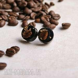 kawa - unikatowe kolczyki stal szlachetna, kawa, dla kawosza, mamy