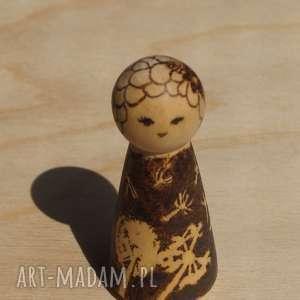 lalki laleczka babie lato - ręcznie wypalana drewniana laleczka, wypalanie