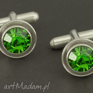 ręcznie zrobione spinki do mankietów luksusowe spinki do mankietów (zielone) lukato