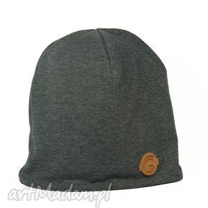 hand-made czapki ciepła czapka grafit