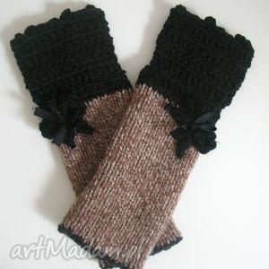 rękawiczki mitenki - rękawiczki, mitenki, dodatki, akcespria, włóczkowe