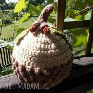IneveraShop, czapka jesień czapka szydełkowa, dziecięca, zimowa, ciepła
