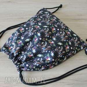 handmade worek plecak - łapacze snów