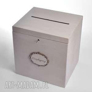Duże ślubne pudełko na koperty Dziękujemy, pudełka-na-koperty, pudełko-na-koperty