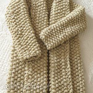 Gruby beżowy sweter swetry mondu sweter, kardigan, chunky, gruby