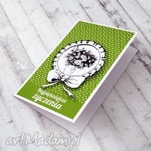 KARTECZKA Z BUKIETEM ŻYCZEŃ..., urodziny, imieniny, życzenia, kartka, okolicznościowa