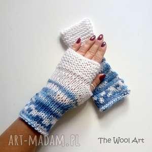 rękawiczki mitenki, rękawiczki, nadrutach, jesienne, wełniane