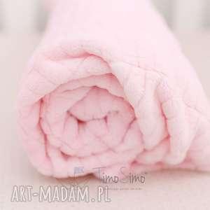 Koc minky Floppy (Różowy, duży),