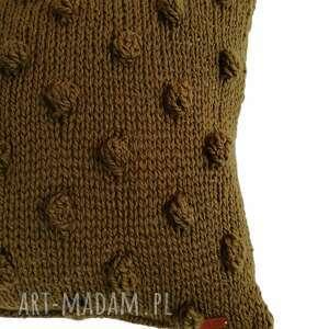 poduszki dziergana poduszka kulki, dziergana, na drutach