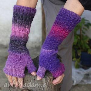 hand-made rękawiczki himalaya w fioletach