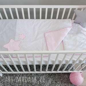 pościel do łóżeczka słodkie sny - róż, gwiazdy, gwiazdki, miękka, poduszka, kołderka