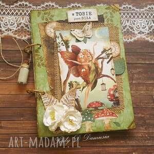 Pamiętnik sekretnik enchanted garden scrapbooking notesy damusia