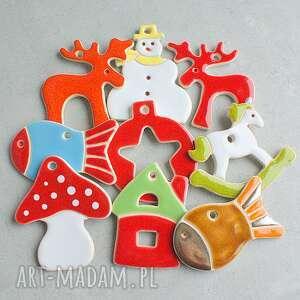 Pomysł na upominek święta! Wesołe zawieszki choinkowe ceramika