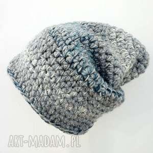 czapka hand made no 024 beanie szydło - na-szydełku, ciepła, prezent