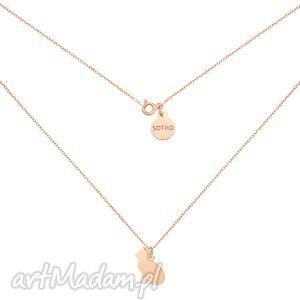 Naszyjnik z kotem z różowego złota - ,naszyjnik,różowe,złoto,kot,kotek,łańcuszek,