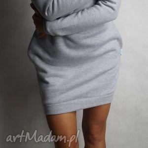 Dresówka długi rękaw XL/XXL, dresowa, tunika, sukienka, kieszenie, ciepła, streetwear